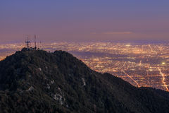 Los Angeles downtown view from top, Mt. Wilson Stock Image