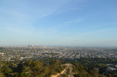 Los Angeles. With downtown wide view Royalty Free Stock Images
