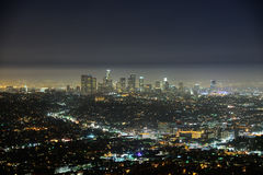 Los Angeles at dusk Royalty Free Stock Image