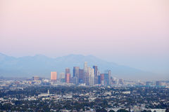 Los Angeles dusk Royalty Free Stock Photos