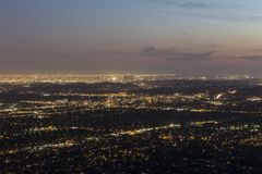 Los Angeles Dusk Royalty Free Stock Photography