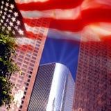 Los Angeles e bandeira dos E.U. fotos de stock