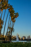 Los Angeles ` Echo Park Lake Royaltyfri Foto