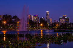 Los Angeles-` Echo Park Lake Lizenzfreie Stockbilder