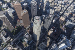 Los Angeles en centre ville domine antenne Photo stock