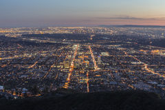 Los Angeles et Glendale la Californie Images libres de droits