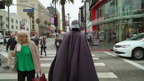 LOS ANGELES, EUA - 9 DE MAIO DE 2019: Caminhada de Hollywood da fama video estoque