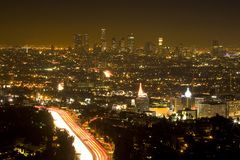 LOS ANGELES EVENING royalty free stock images