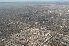 Los Angeles förortflygbild Arkivfoto