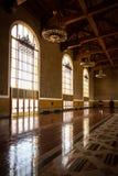 Los Angeles facklig station som etiketterar Hall arkivfoto