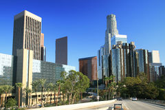 Los Angeles financial district Stock Image