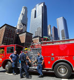Los Angeles Fire Department. Los Angeles firefighters are waiting for a new assignment, 08/16/2010 royalty free stock photos
