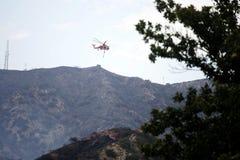 La Tuna Canyon Fire royalty free stock photos