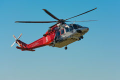 Los Angeles Fire Department helicopter Stock Photo