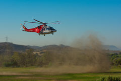 Los Angeles Fire Department helicopter Stock Photography