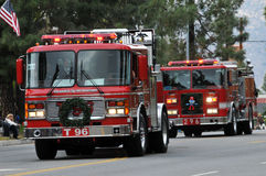 Los Angeles Firetrucks stock afbeelding
