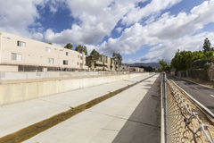 Los Angeles flod San Fernando Valley Royaltyfri Fotografi