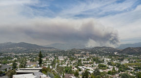 Los Angeles Forest Fire Stock Photo