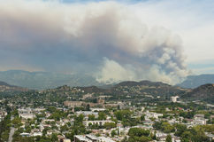 Los Angeles Forest Fire Royalty Free Stock Photos