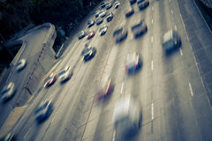 Los Angeles freeway Stock Images