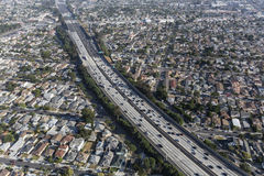 Los Angeles 405 Freeway Aerial Royalty Free Stock Photos