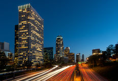 Los angeles freeway city Stock Images