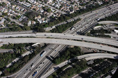LA Freeway Interchange Royalty Free Stock Images