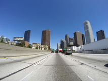 Los Angeles Freeway Towers Stock Photography