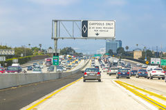 Los Angeles Freeway Traffic Royalty Free Stock Images