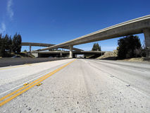 Los Angeles Freeways in San Fernando Valley. 118 and 405 freeway interchange bridges in Los Angeles's San Fernando Valley Stock Photos