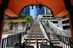 Los angeles funicular Royalty Free Stock Image