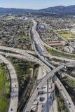 Los Angeles Golden State Freeway norte imagem de stock
