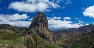 Los Angeles Gomera, wyspy kanaryjska, Roque De Agando Obraz Royalty Free