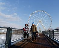Los Angeles Grande Roue w Montreal obrazy royalty free