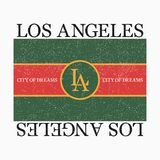Los Angeles Graphic For Fashion T-shirt With Slogan. Typography Print For Design Clothes And Tee Shirt. Vector. Stock Photography
