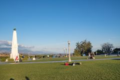 Los Angeles Griffith Park. Los Angeles, CA: February 16, 2018: Griffith Park in the Los Angeles area. Griffith Park is a popular tourist destination in the Los Royalty Free Stock Photography