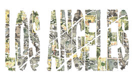 Los Angeles grunge text with dollars Stock Photography