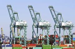 Los Angeles-Hafen-Werft-Behälter Lizenzfreie Stockfotos