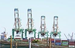 Los Angeles-Hafen-Werft-Behälter Stockfotografie