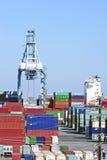 Los Angeles-Hafen-Werft-Behälter Stockbild