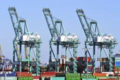 Los Angeles-Hafen-Werft-Behälter Stockbilder