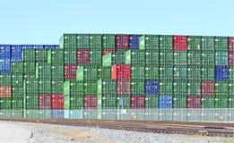 Los Angeles-Hafen-Werft-Behälter Lizenzfreies Stockfoto