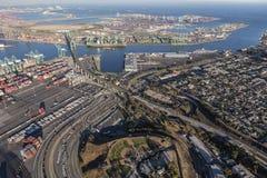 Los Angeles hamn och San Pedro Neighborhood royaltyfri bild