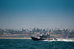 Los Angeles Harbor Patrol Boat Royalty Free Stock Photos
