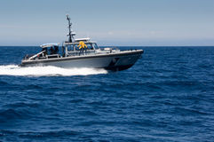 Los Angeles Harbor Patrol Boat. Los Angeles Sherrif's department patrol boat Royalty Free Stock Image