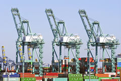 Los Angeles Harbor Shipyard Containers Royalty Free Stock Photos