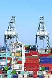 Los Angeles Harbor Shipyard Containers Royalty Free Stock Images