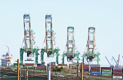 Los Angeles Harbor Shipyard Containers Stock Photography