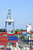 Los Angeles Harbor Shipyard Containers Stock Image