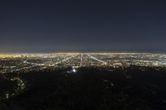 Los Angeles Hazy Night Royalty Free Stock Image